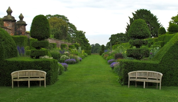 Double perennial borders at Arley Hall Gardens