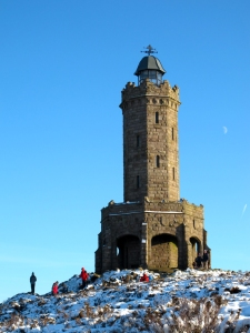 Darwen Tower on a snowy day