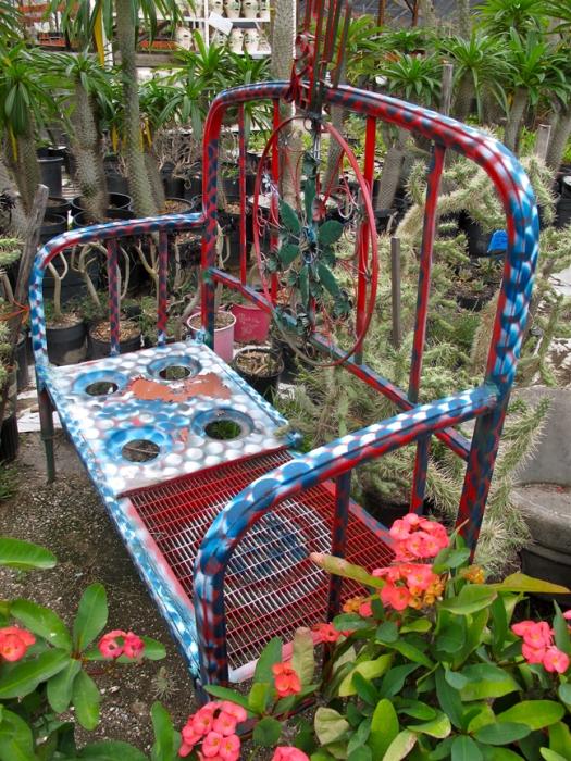 Garden Art at a cactus nursery