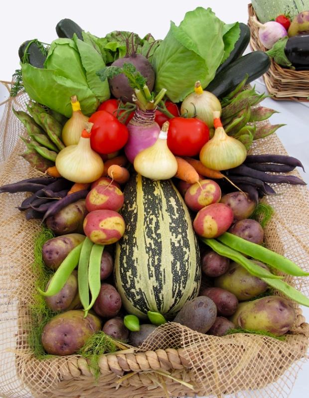 Prize winning basket of vegetables
