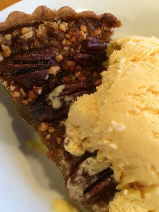 Pecan pie and ice cream
