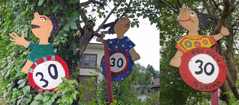 Children speed limit signs