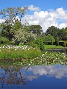 Lake and meadow at Gresgarth Hall