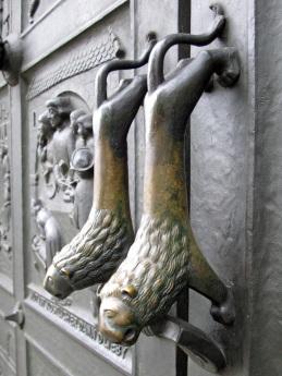 Lion door handles