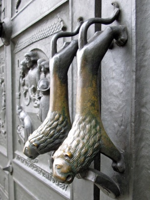 Lion door handles