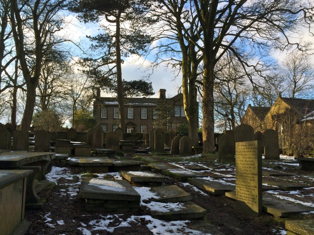 Brontë Parsonage Museum from the graveyard