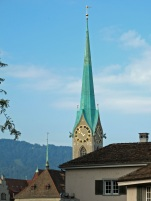 Clock tower with steeple