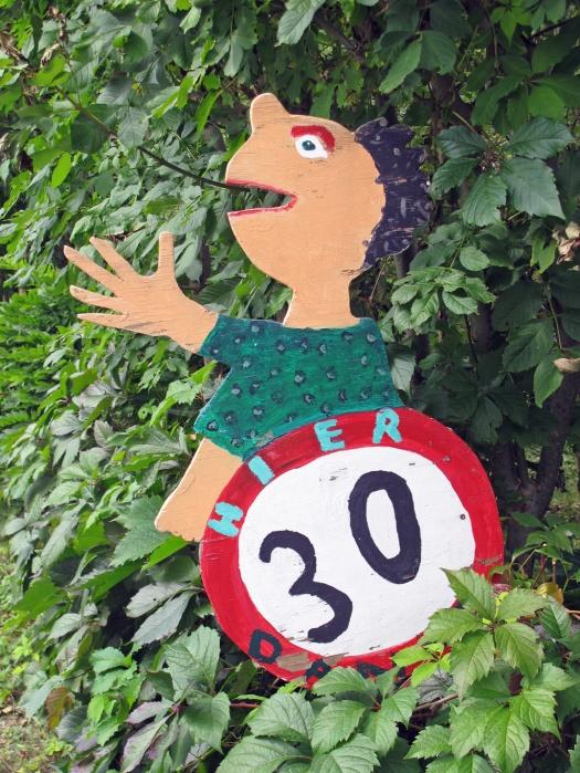 Child's speed limit sign