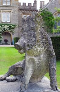 Wild boar at Gresgarth Hall Gardens