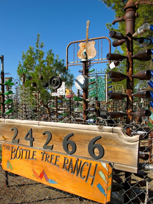 Bottle Tree Ranch sign