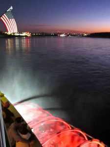 Steamboat paddle wheel