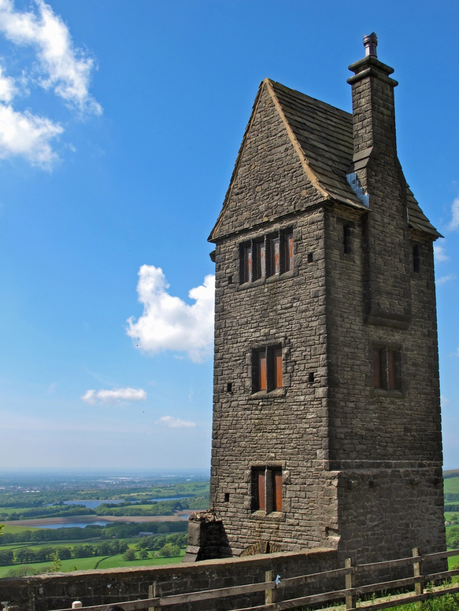 Pigeon Tower, Rivington, has a wonderful view over the countryside