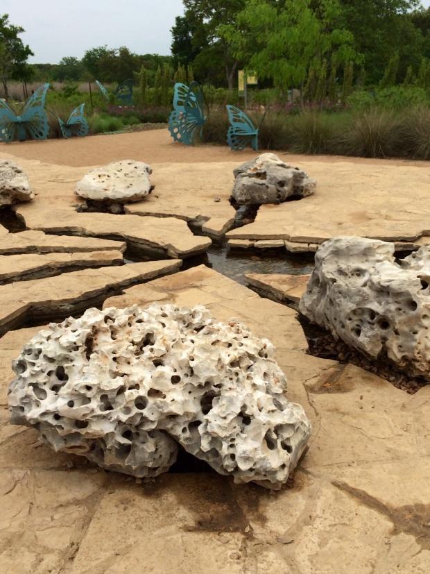 Holey rock installation