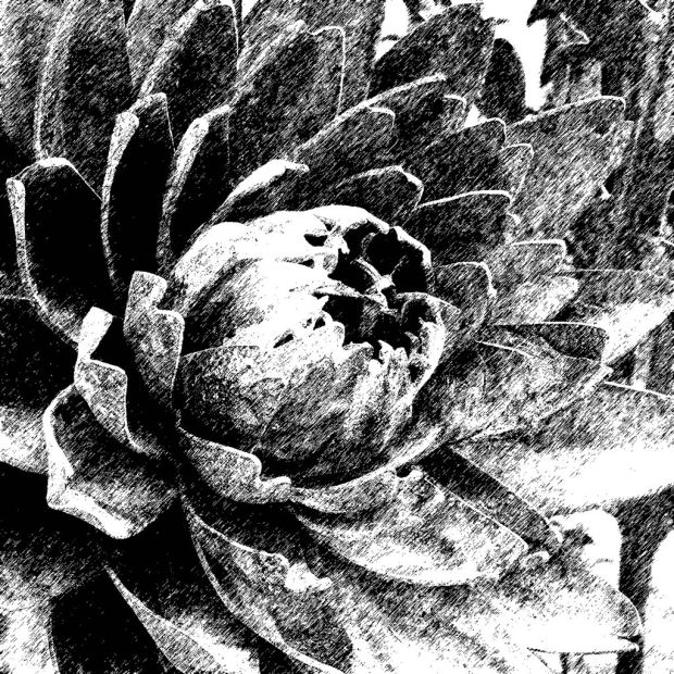 Metal artichoke stylised