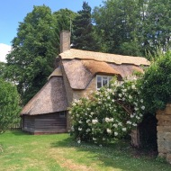 Cottage with thatched roof