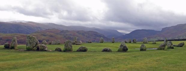 Castlerigg stone circle overcast