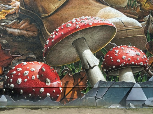 Glasgow street art: Mushrooms