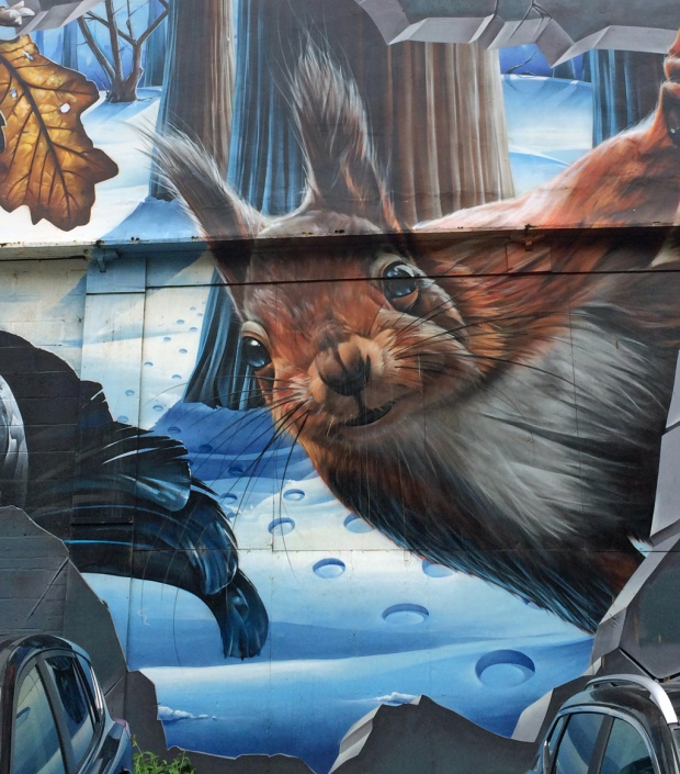 Glasgow street art: Squirrel