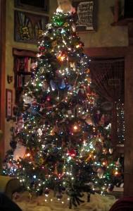 Christmas Tree watercolour effect