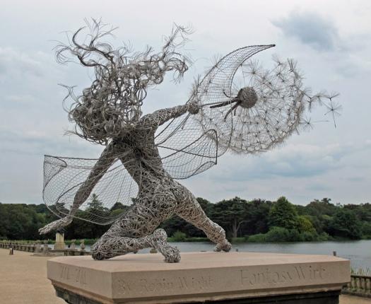 Fantasy Wire Fairy Sculpture Wishes