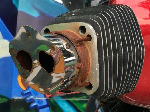 Motorbike art: hog snout