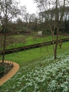 Rococo Garden in snowdrop season