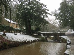 Sunnyhurst Wood Visitor Centre and bridge