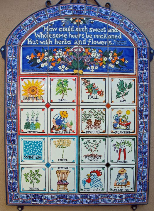 Seasons Tiles at Tucson Botanical Gardens