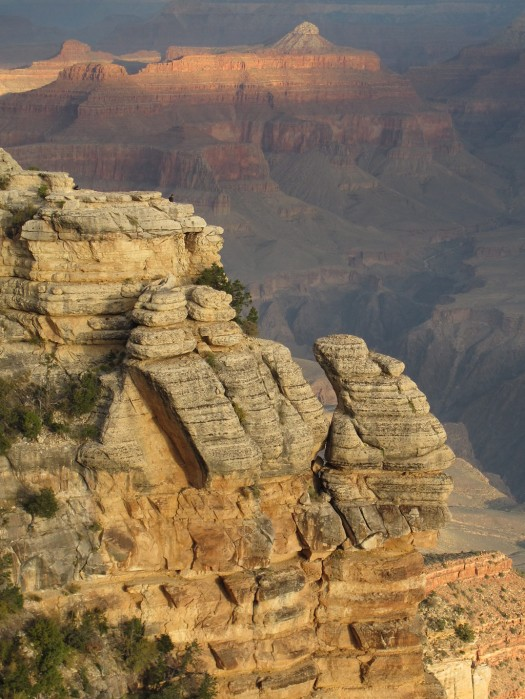 Rock formation at the Grand Canyon