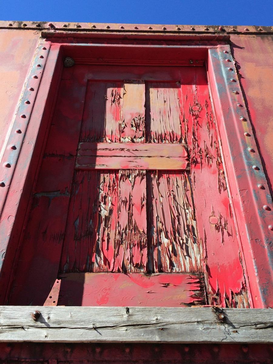 Abandoned Caboose Door