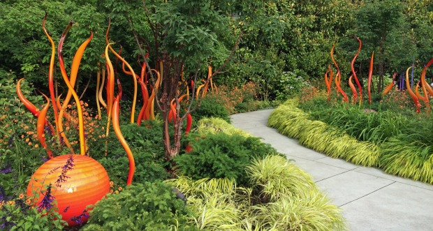 Orange Chihuly Art Glass