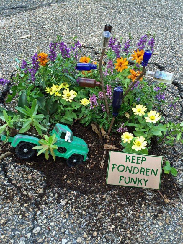 Pothole garden
