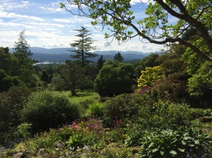 View of the Lake District from Holehird Gardens