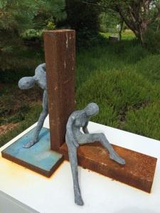 Back to back sculpture: both
