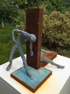 Back to back sculpture: him