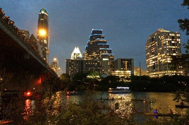 Bat vigil in Austin, Texas