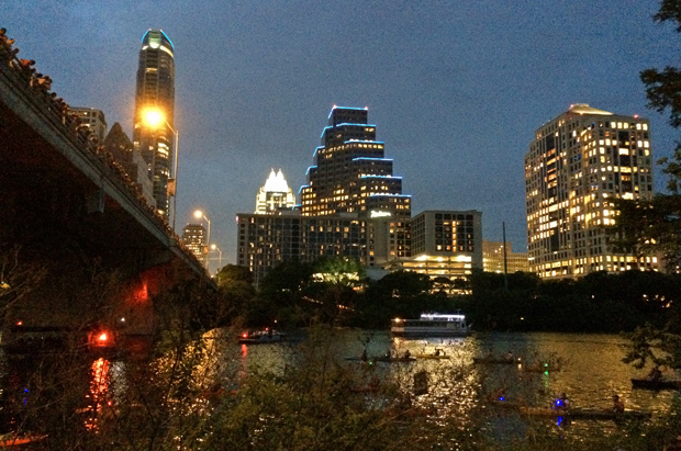 Bat vigil in Austin, Texas