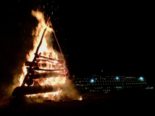 Bonfire on the levee