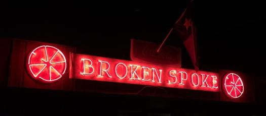 Broken Spoke sign