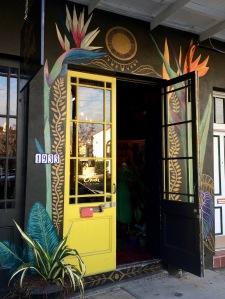 Floral doorway of Saint Claude Social Club, New Orleans