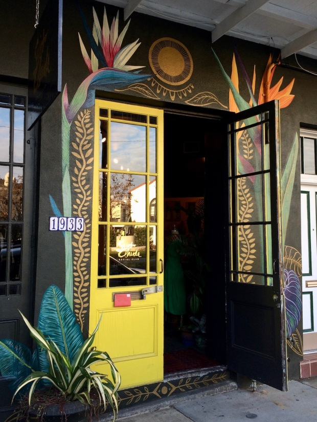 Floral doorway of Saint Claude Social Club, New Orleans