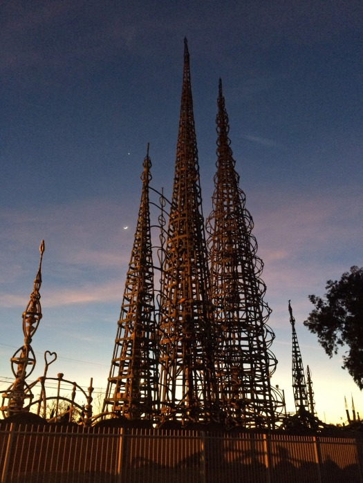 Watts Towers at Dusk