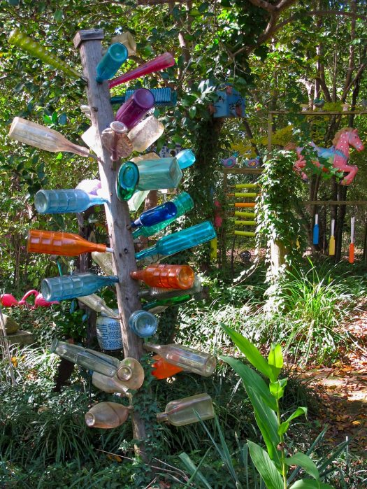 Bottle tree with fairground horse