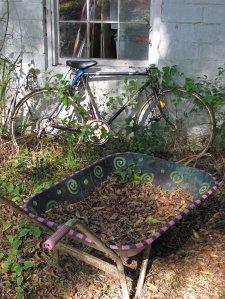 Painted wheelbarrow