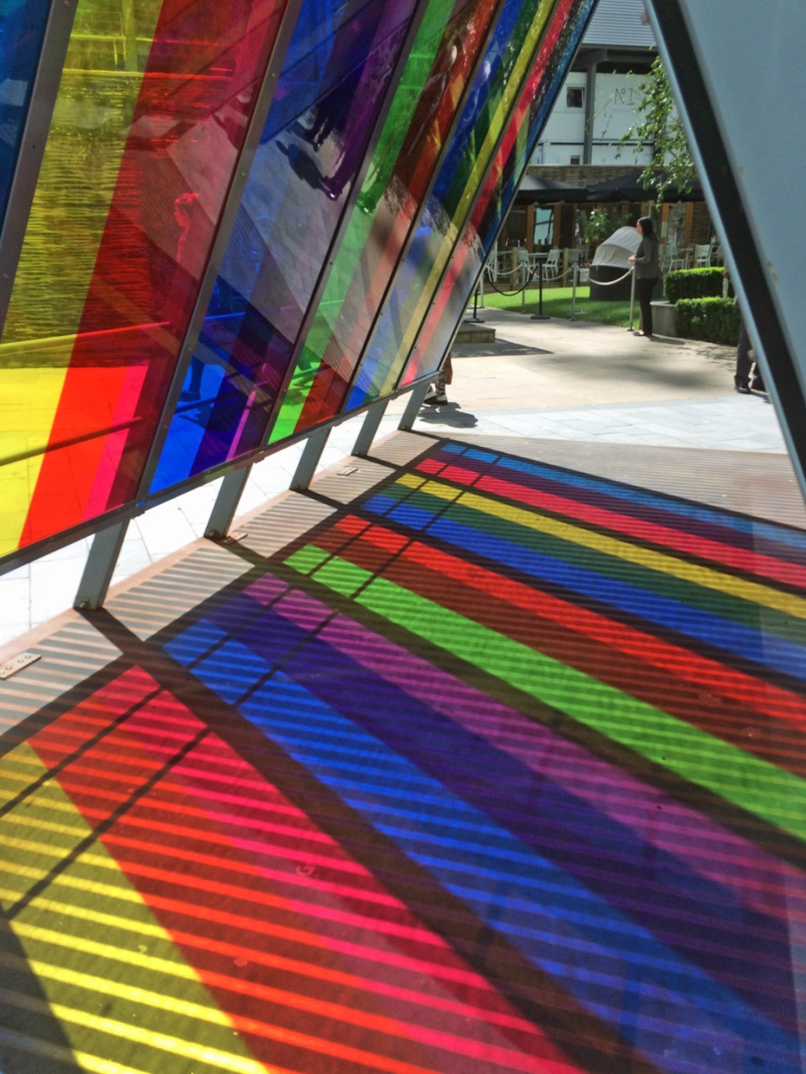 Colourful shelter, Manchester, England