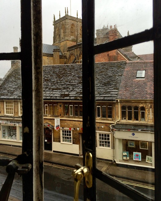 View of Sherborne from hotel window