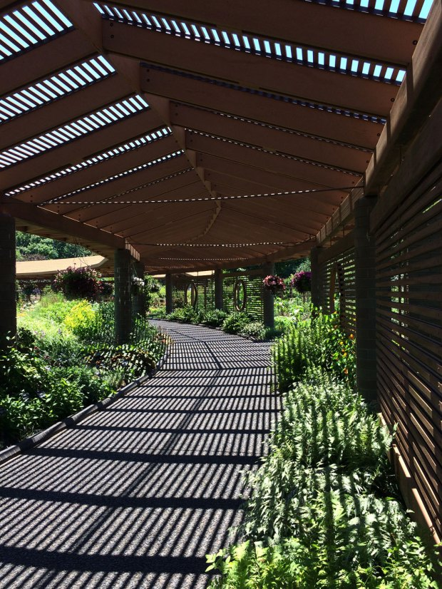 Covered path at the Missouri Botanical Garden