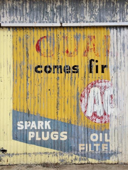 Weathered advert