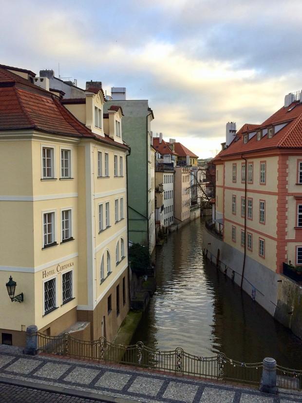 Colourful houses in Prague's Little Venice area