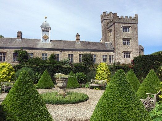 Formal garden with topiary cones